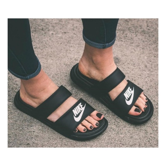 4335463f2b09a Nike 2 strap slides
